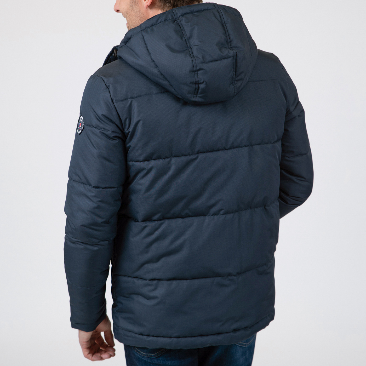 Port Puffa Jacket Dark Blue