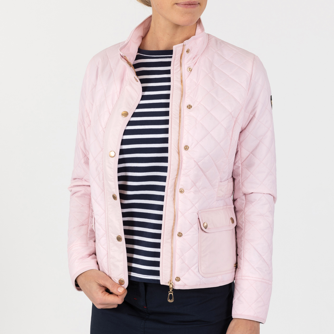 Cathrine Quilted Jacket Light Pink